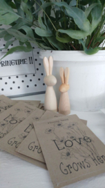 Sachet bloemenzaad Love naturel
