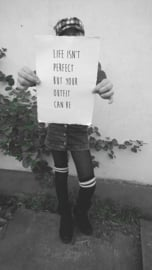Poster A4 Life isn't perfect