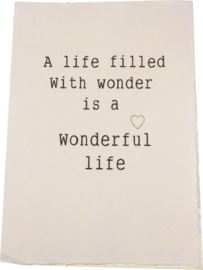Poster A4 A life filled with wonders