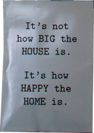 Geursachet Craft  A5 wit Happy the Home
