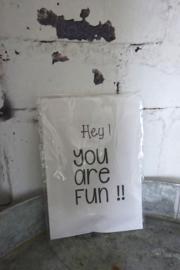 Geursachet Craft wit Hey you are fun !