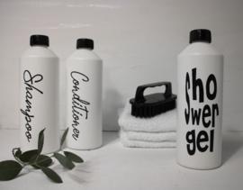 Fles voor Shampoo  SL wit