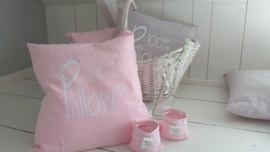 Kussen50 100% Pillow stonewashed Linnen roze