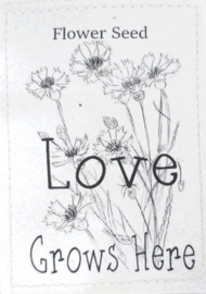 Sachet bloemenzaad Love wit