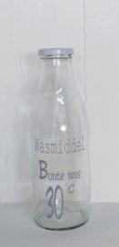 """Glazen fles """"Bonte was"""""""