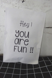 Geursachet Craft wit Hey you are fun !