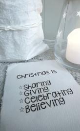 Kaart A5 Christmas is Sharing