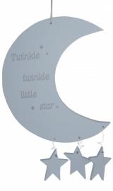 Maan met sterren groot