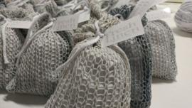 Fresh Linen - Gebreide katoenen buidel scandinavisch