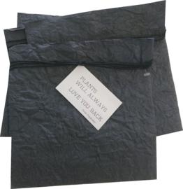 Paper plantbag antraciet-zwart