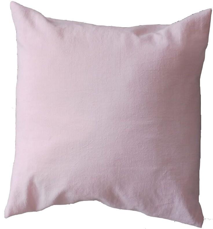 Kussen 50x50 stonewashed Linnen roze