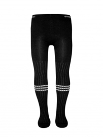Zwarte rib maillot met strepen Ewers