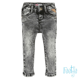 Grijze slim fit jeans Feetje