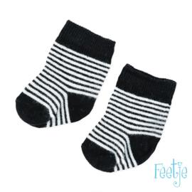 Zwart witte sokjes Feetje