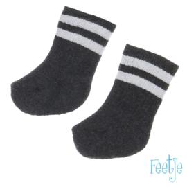 Antraciet sokje Feetje