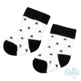 Zwart/wit sokje Feetje