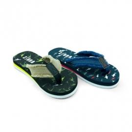 Donkerblauwe slippers Zebra