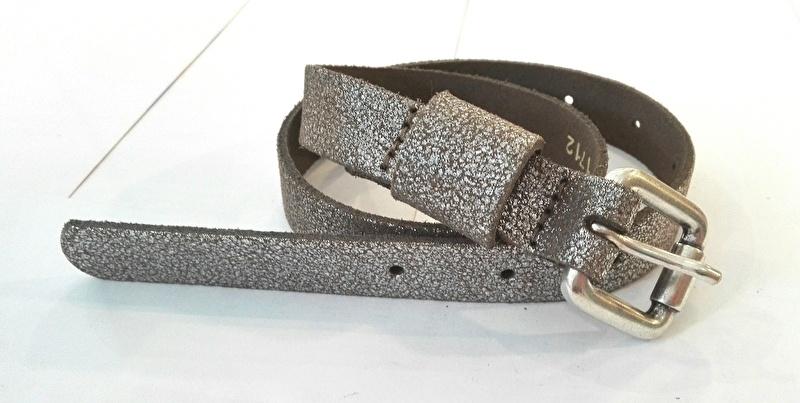 Zilver kleurige riem Kidzzbelt