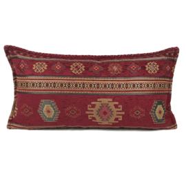 Rood kussen - Aztec ± 30x60cm