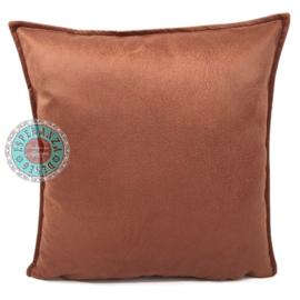 Velvet kussen Brick oranje (1009) ± 45x45cm