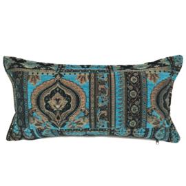 Turquoise kussen - Oriënt kelim ± 30x60cm