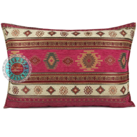 Aztec hard roze kussen ± 45-50x70cm