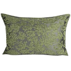 Olijf groen kussen - (Koraal) takken ± 50x70cm