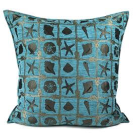 Esperanza Deseo ® kussen - Beach, turquoise ± 70x70cm