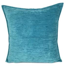 Turquoise blauw kussen ± 45x45cm