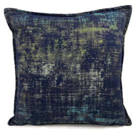 Sierkussen Industrieel donkerblauw ± 50x50cm