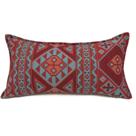 Esperanza Deseo ® kussen - Native, turquoise rood en oranje ± 30x60cm