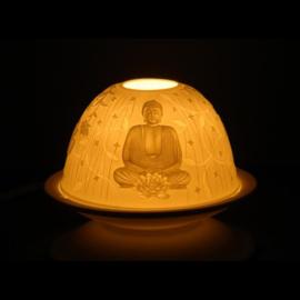 Sfeerlicht porselein Boeddha  11,5 x 7,8cm