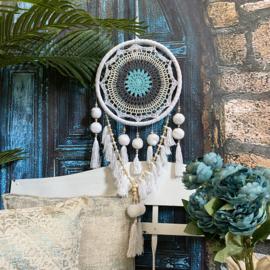 Mooie dromenvanger  met pompoenen en crochet (Fairtrade)