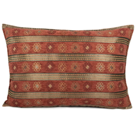 Brick oranje kussen - Peru stripes ± 50x70cm