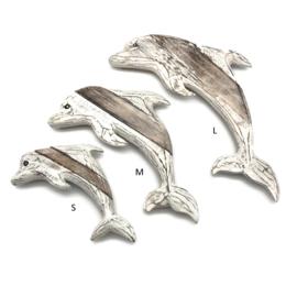 Houten dolfijn maat L  48x28x5cm