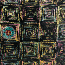 Sierkussen Exclusive Art collection black square ± 50x70cm