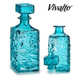 Glazen turquoise karaf - 1 liter