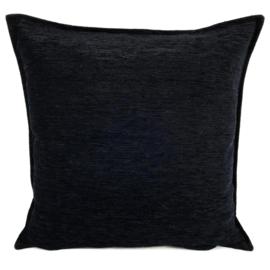 Zwart kussen ± 45x45cm