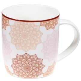 Theemok set Mandala roze