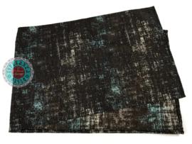 Tafelloper Industrieel donkerbruin ± 45x140cm
