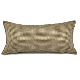 Esperanza Deseo ® kussen - Linnen meubelstof met grote lus - Brons met licht beige ± 30x60cm