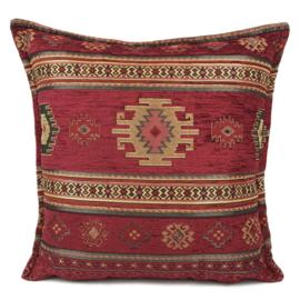 Rood kussen - Aztec ± 45x45cm