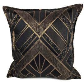 Esperanza Deseo ® kussen - Luxery zwart met goud ± 45x45cm