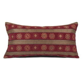 Rood kussen - Peru stripes ± 30x60cm