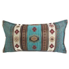 Esperanza Deseo ® kussen - Aztec, turquoise en ivoor ± 30x60cm