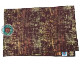 Tafelloper Industrieel Burgundy ± 45x200cm