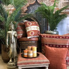 Brick oranje kussen - Aztec ± 70x70cm