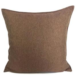 Esperanza Deseo ® kussen - Linnen meubelstof met fijne lus - Brons met koraal ± 60x60cm