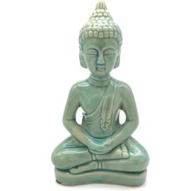 Keramieken Boeddha in de kleur vintage groen
