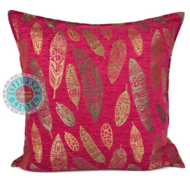 Boho Feathers hard roze kussen ± 70x70cm